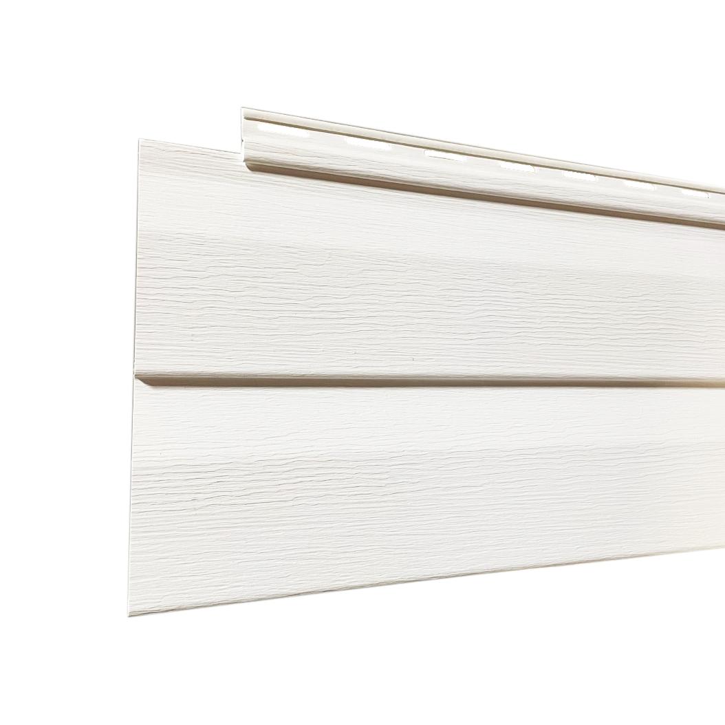 Revêtement extérieur en vinyle Colonial à gorge D4.5 «Kaycan» Blanc - 12 pi (unité)
